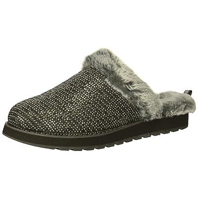 Skechers BOBS Women's Keepsakes High - Dream Ninja Rhinestone and Pearl Clog W Memory Foam Slipper | Shoes