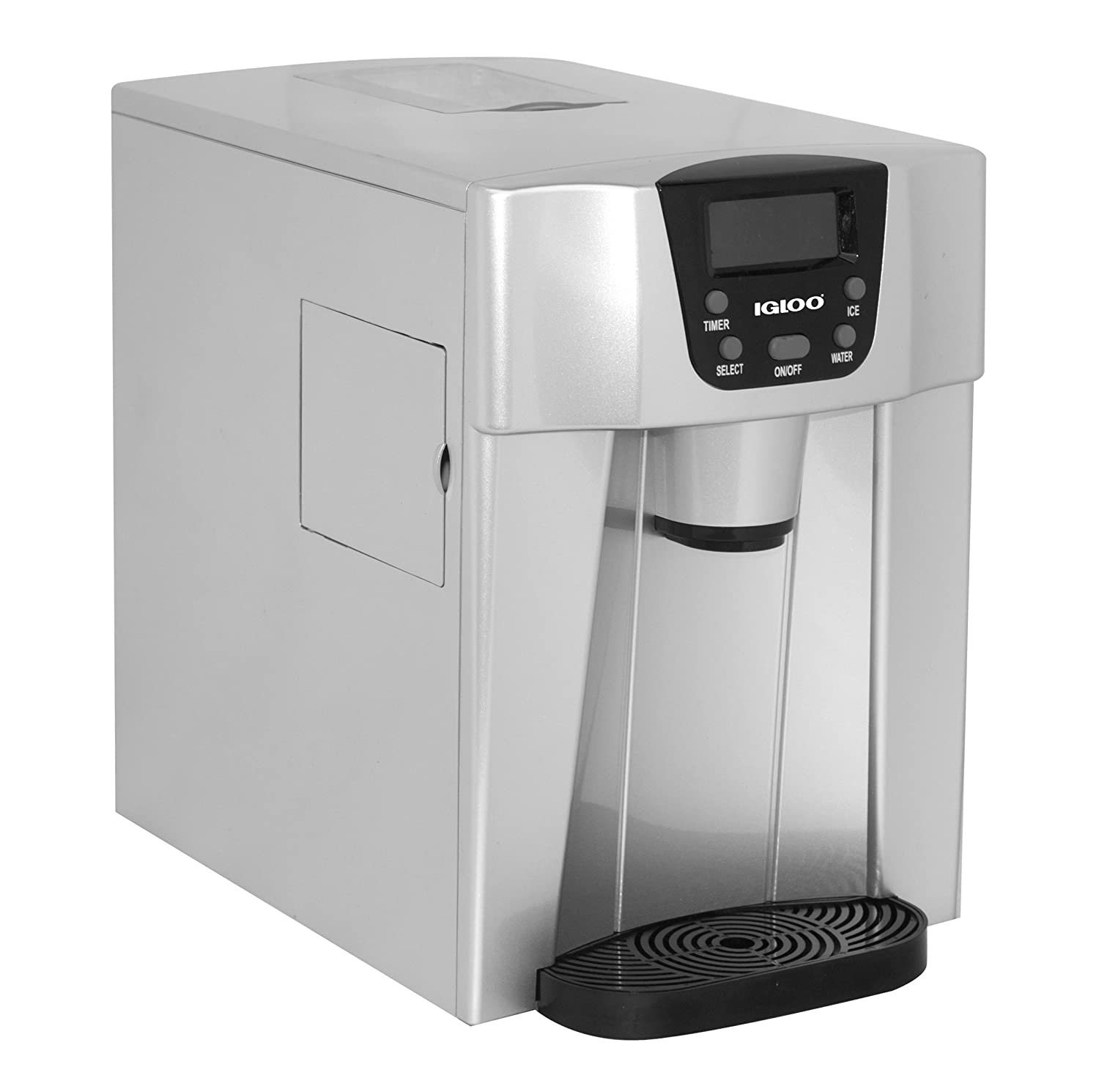 Igloo ICE227-Silver Compact Ice Maker and Water Dispenser, Silver Curtis International LTD