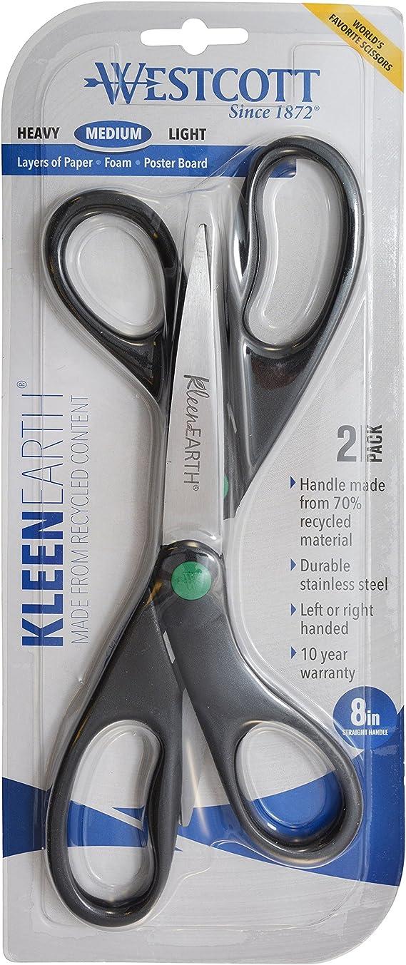 "Westcott Medium  Scissors 8 "" Kleen Earth 2-Pack"