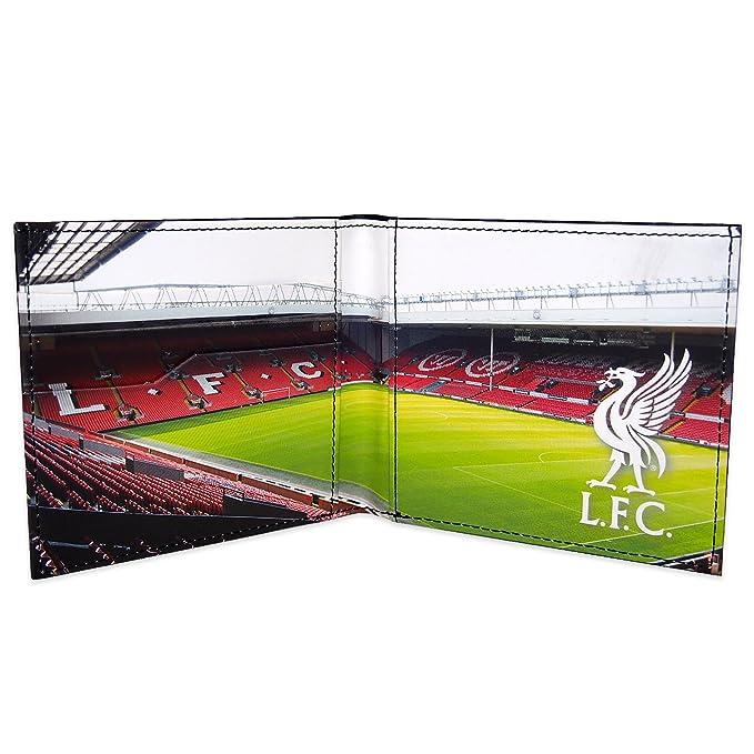 Liverpool FC - Cartera oficial con el escudo grabado - Negro - Negro: Amazon.es: Ropa y accesorios