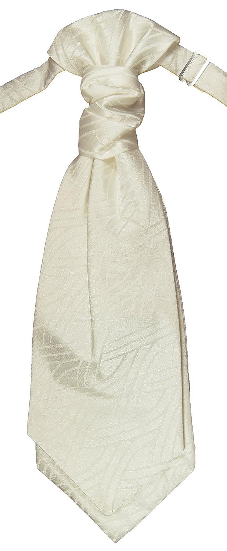 Hochzeitskrawatte elfenbein ivory Plastron Hochzeitsmode für Herren by Paul Malone PMPSv50