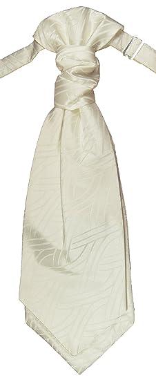 Paul Malone Corbata de boda Ivory Plastron boda moda para hombres ...