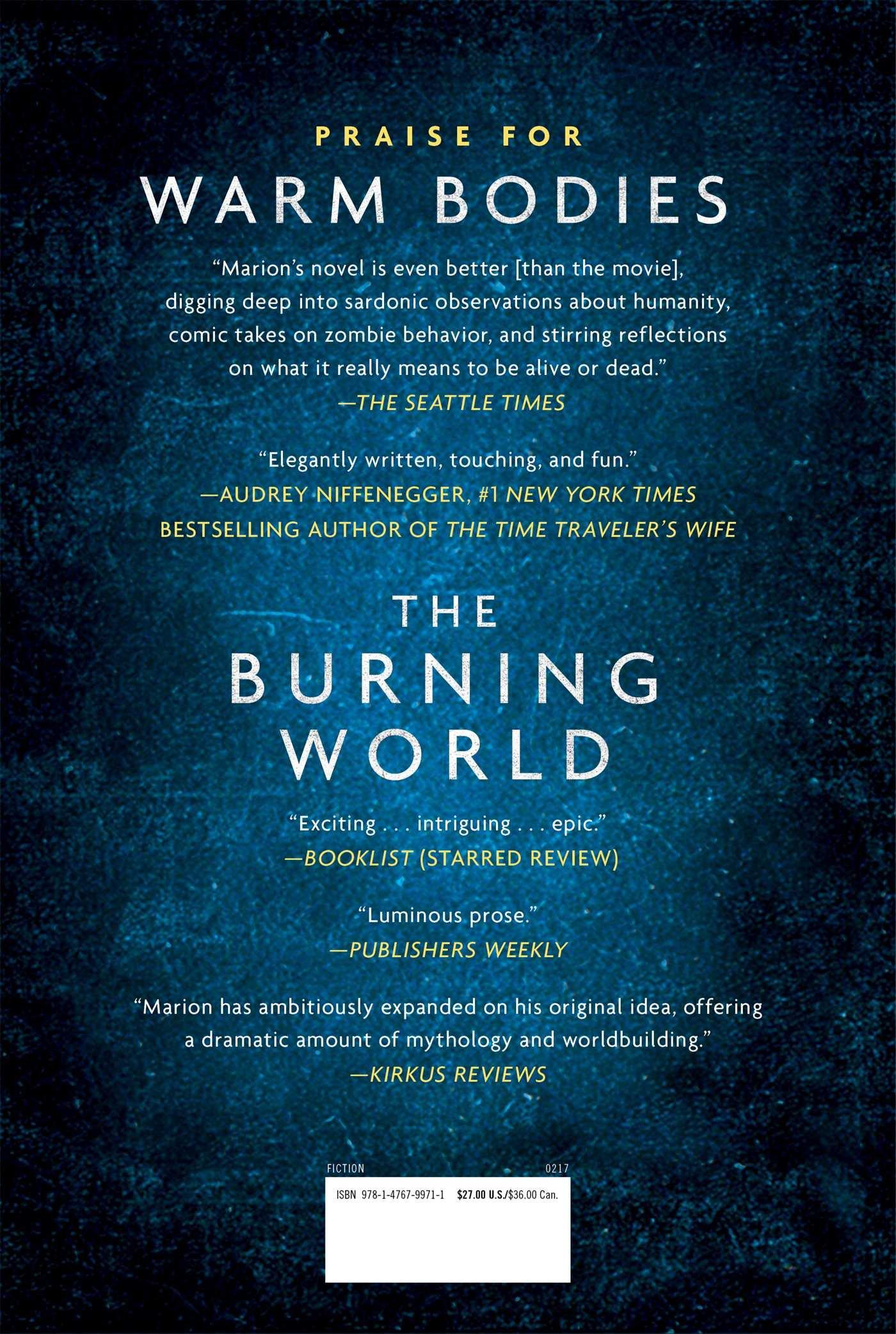 The Burning World: A Warm Bodies Novel  Livros Na Amazon Brasil  9781476799711