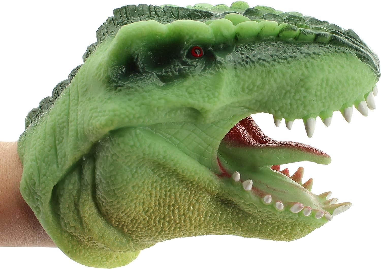 Alligator 15 cm lang MIK funshopping Handpuppe aus weichem Silikon ca