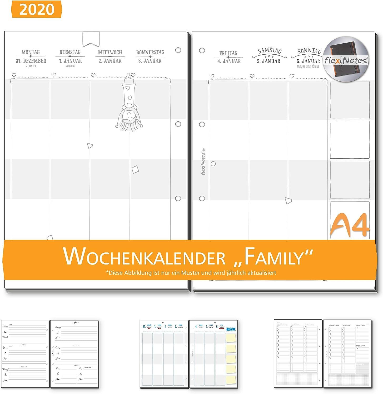 Calli 1 Woche 2 Seiten Kalendereinlage flexiNotes WOCHENKALENDER 2020 A4