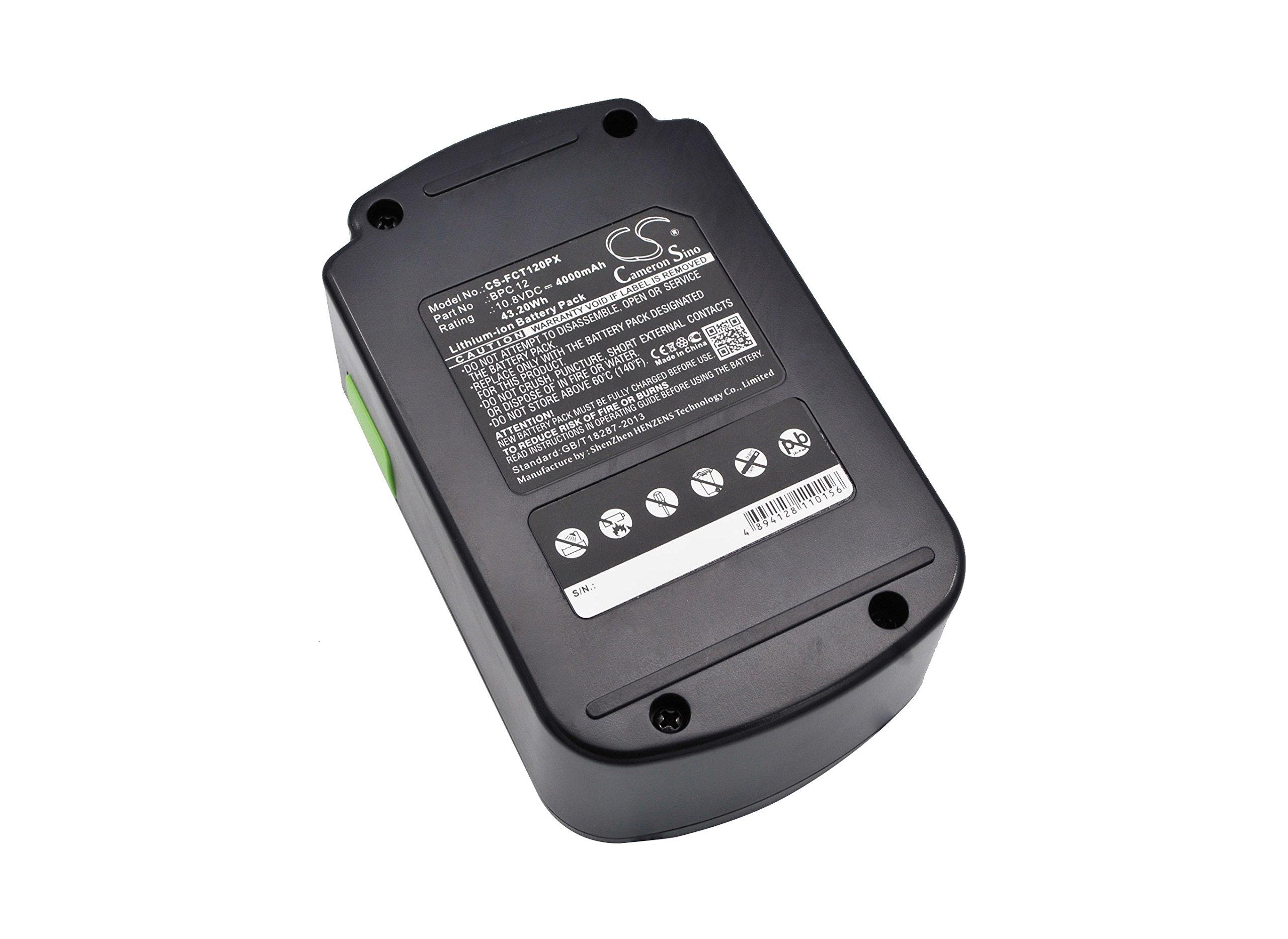 Battery Replacement for FESTOOL C 12 Li, T 12+3 Part NO 498336, 498338, 498339