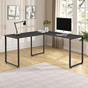 Merax L-Shaped Office Desk Workstation Computer Desk Corner Desk Home Office Wood Laptop Table Study Desks