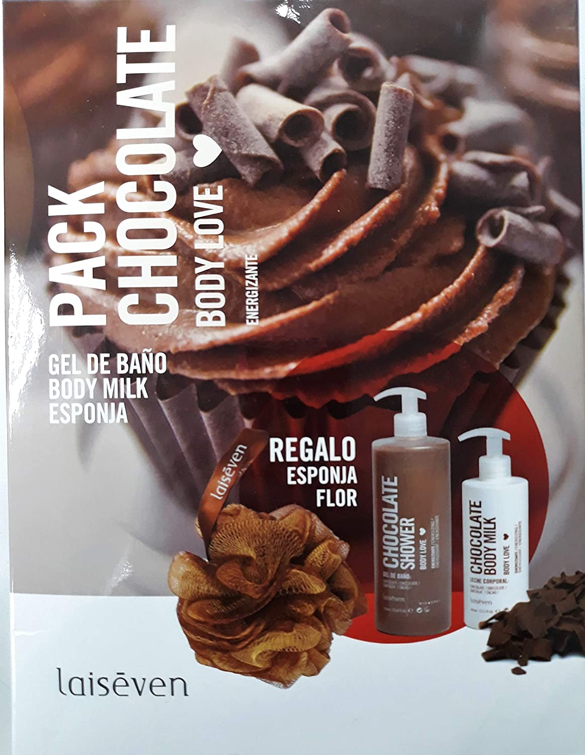 Laiseven Pack Chocolate Body Love Gel Chocolate 750 ml + Body Mil ...