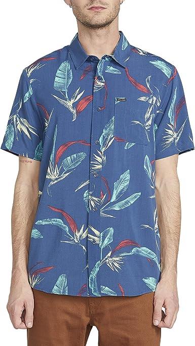 Volcom Faxer - Camisa de manga corta con botones para hombre