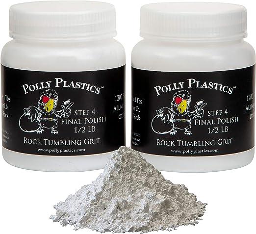Amazon Com Polly Plastics Rock Tumbler Media Grit Refill 1 Lb Final Polish 1200 Fine Aluminum Oxide Stage 4 For Tumbling Stones 2 Pack Toys Games
