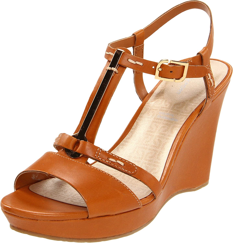 Rockport Women's Locklyn Pendant Wedge Sandal B00590PP42 10 B(M) US|Brown