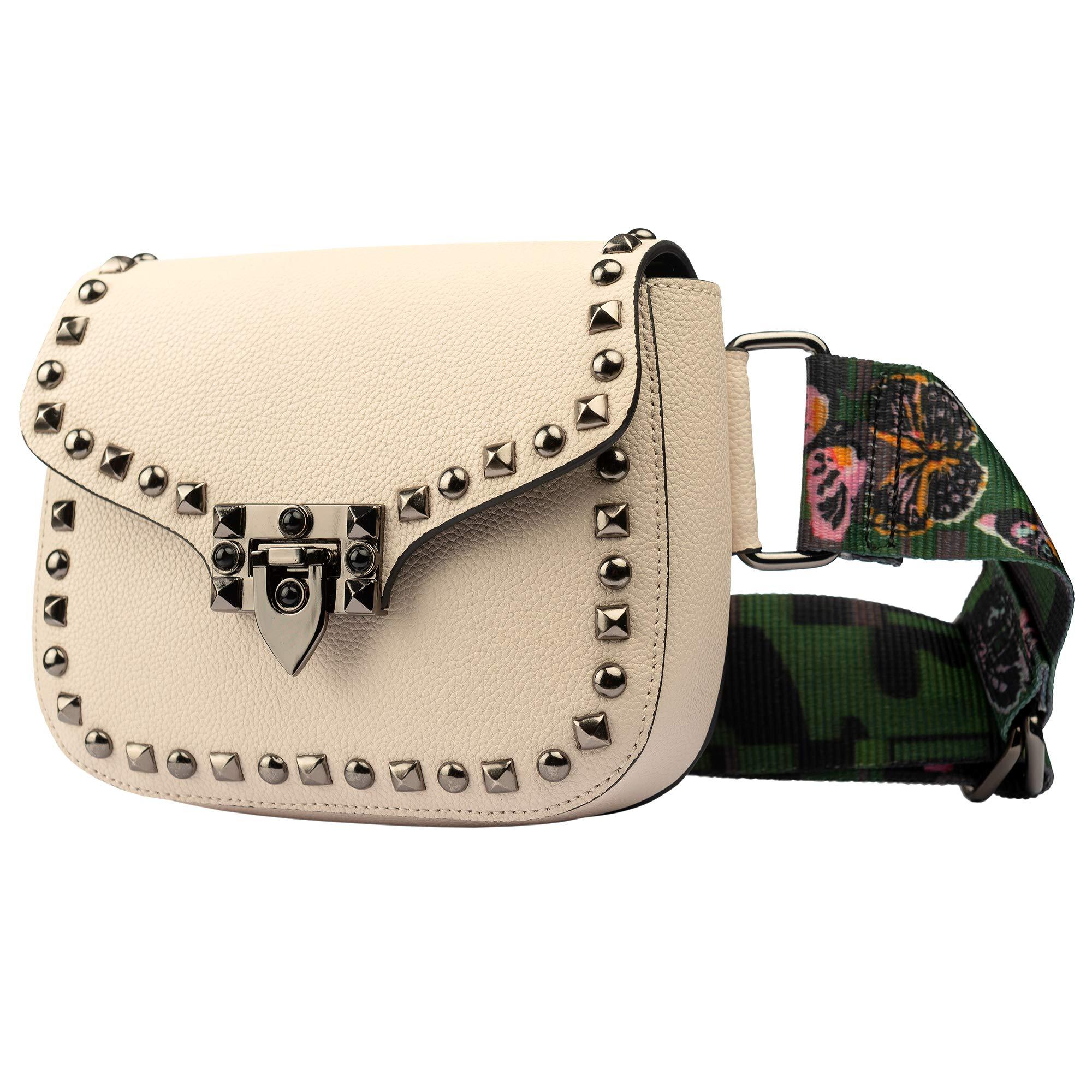 Leather Fanny Pack - Belt Bag for Women - Cute Fanny Pack - Plus Size Waist Bag - Fanny Packs for Women - Leather Fanny Pack for Women - Waist Bags for Women - Waist Purse for Women (Beige)