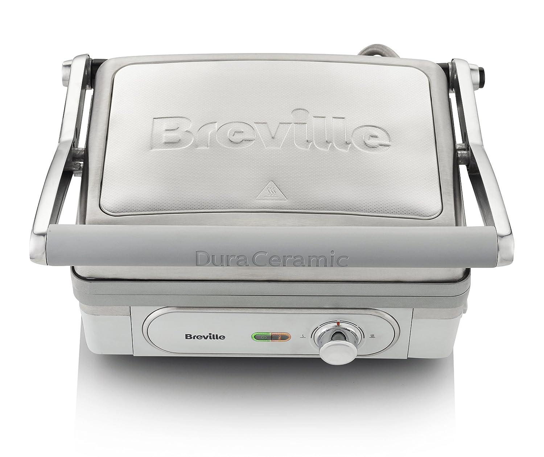 Breville Tostiera Grill 1800 W DuraCeramic, argentoo