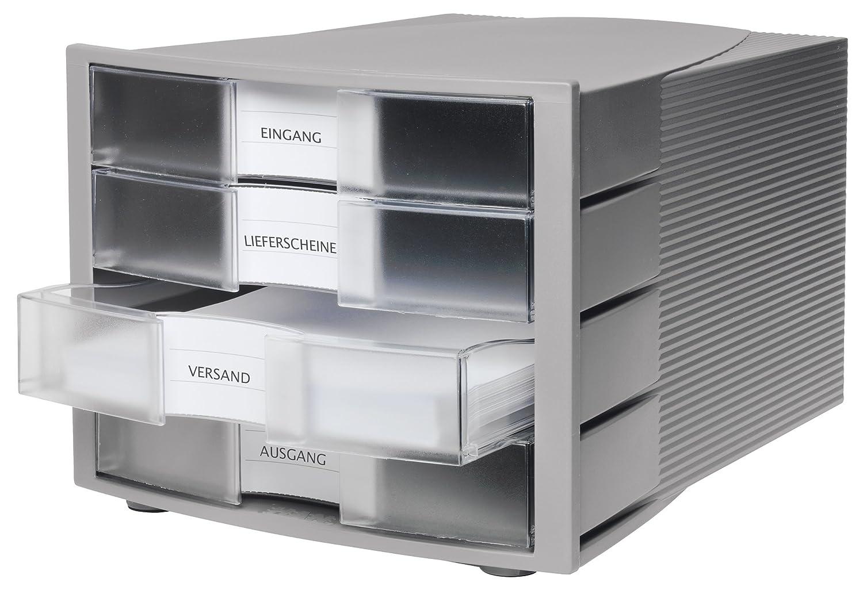 Import Allemagne HAN 1010-X-11 Module de rangement Impuls 4 tiroirs ferm/és Gris clair,