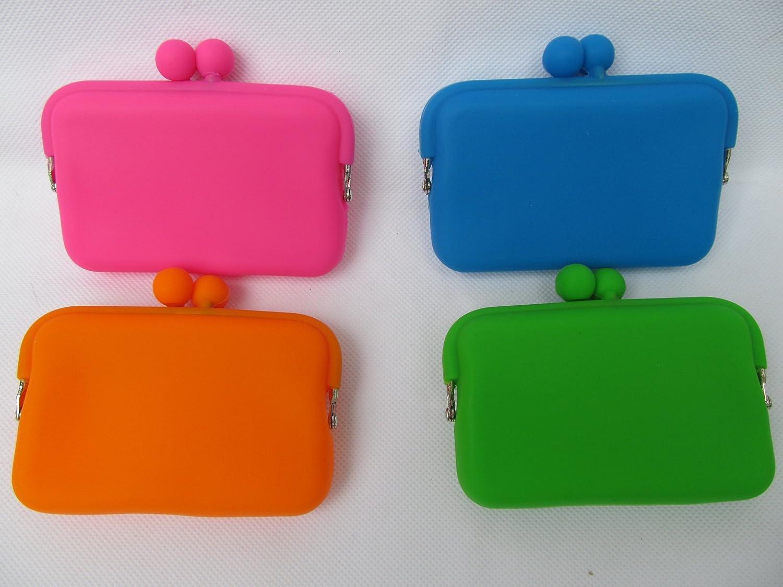 Cute N/éon Vert Pour Filles Et Femmes Rectangulaire Silicone Porte-monnaie Mode Porte-monnaie Bag 10cmx7cm Post/é de Londres par Fat-catz