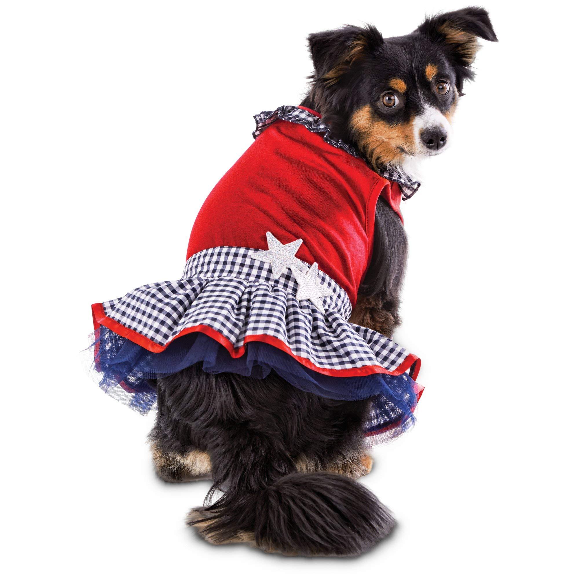 Bond Patriotic Pets Star-Spangled Dog Dress, X-Small