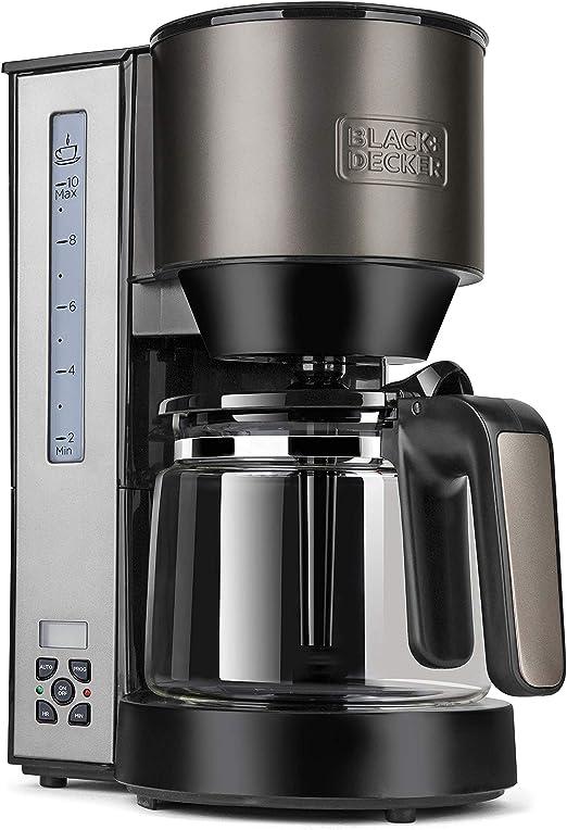 Black+Decker BXCO1000E Cafetera de goteo, 1000 W, 1.25 litros ...