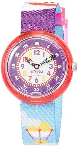 Reloj FLIK FLAK Going On A Trip zFBNP105 al cuarzo (batería) plástico quandrante correa tela: Amazon.es: Relojes