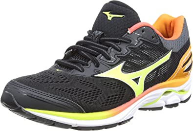 Mizuno Wave Rider 21 Osaka Wos, Zapatillas de Running Mujer, Multicolor (Black/safetyyellow/White 44), 38 EU: Amazon.es: Zapatos y complementos
