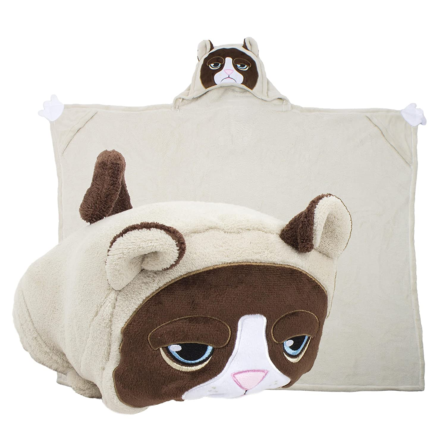 Stuffed Animal Blanket & Pillow; Grumpy Cat