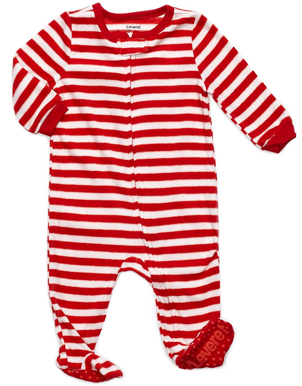 03aa183acd Amazon.com  Leveret Fleece Baby Boys Girls Footed Pajamas Sleeper Kids   Toddler  Christmas Pajamas (3 Months-5 Toddler)  Clothing