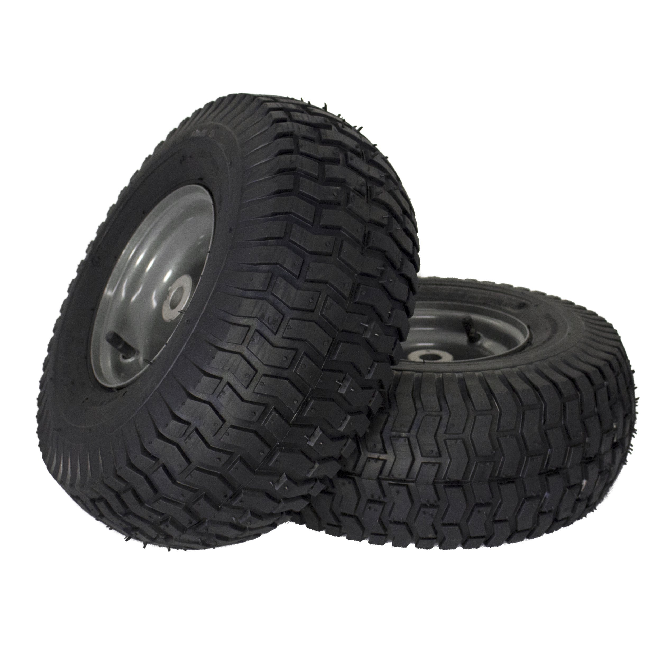 MARASTAR 21446-2PK 15x6.00-6'' Front Tire Assembly Replacement for Craftsman Riding Mowers