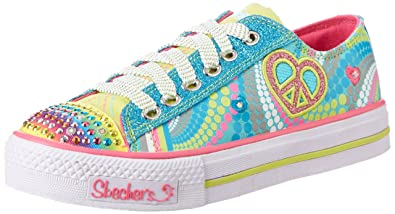 0f4c1a46109a Skechers Girls Shuffles Heart Sparks Trainers Turquoise Türkis (TQMT) Size   9
