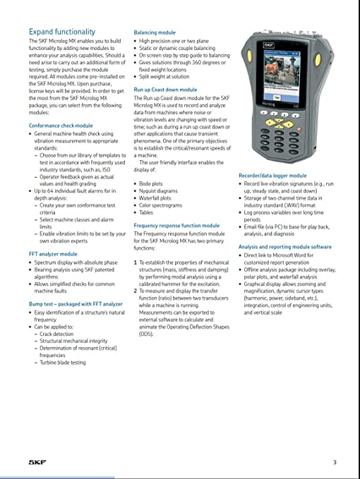 SKF cmxa 44 – 2 canal portátil analizador de vibraciones y barra: Amazon.es: Industria, empresas y ciencia