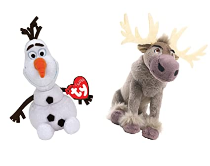 Frozen Coloring Pages Olaf And Sven : Amazon.com: ty disney frozen sparkle olaf and sven standard sized