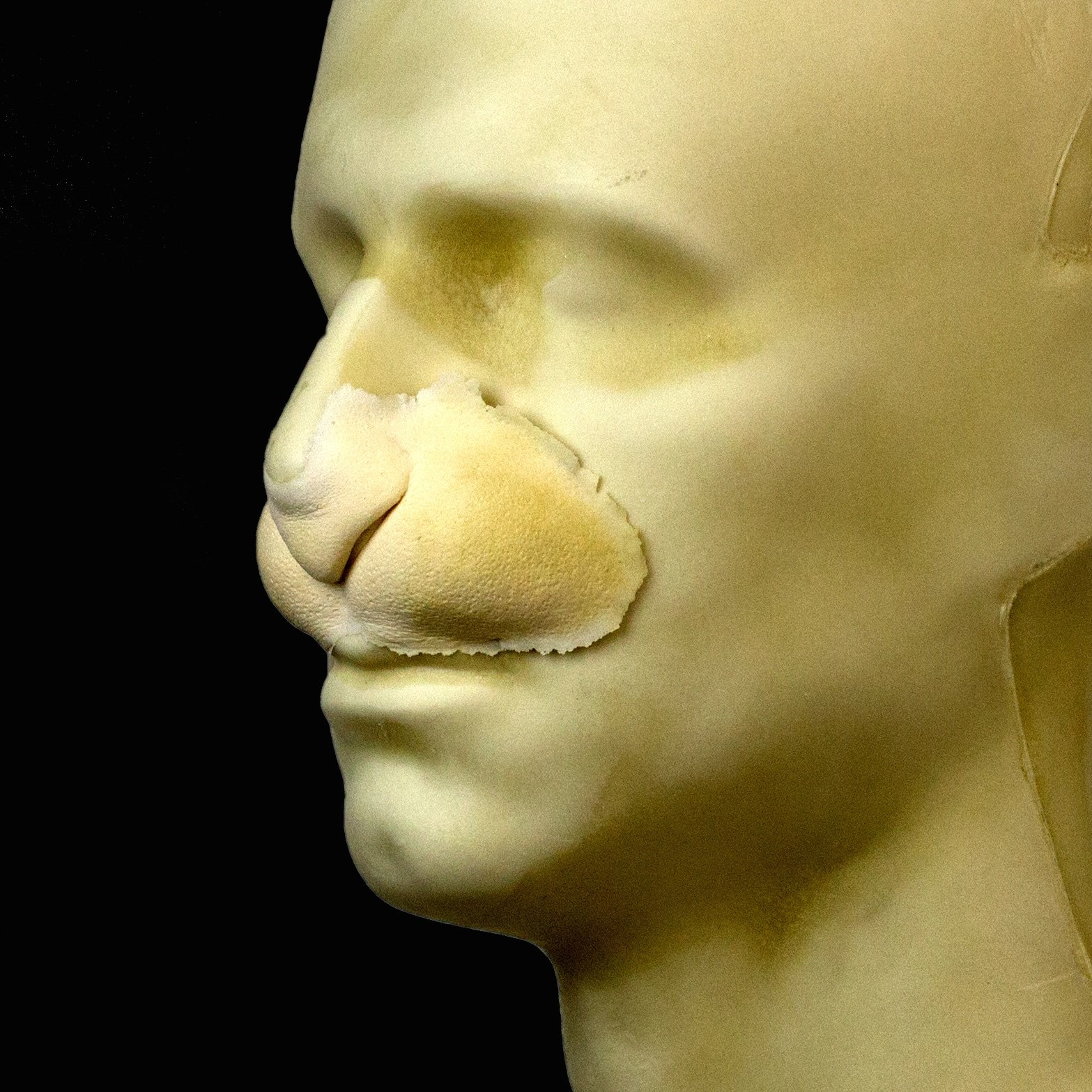 Rubber Wear Foam Latex Prosthetic - Rabbit Nose FRW-051 - Makeup and Theater FX