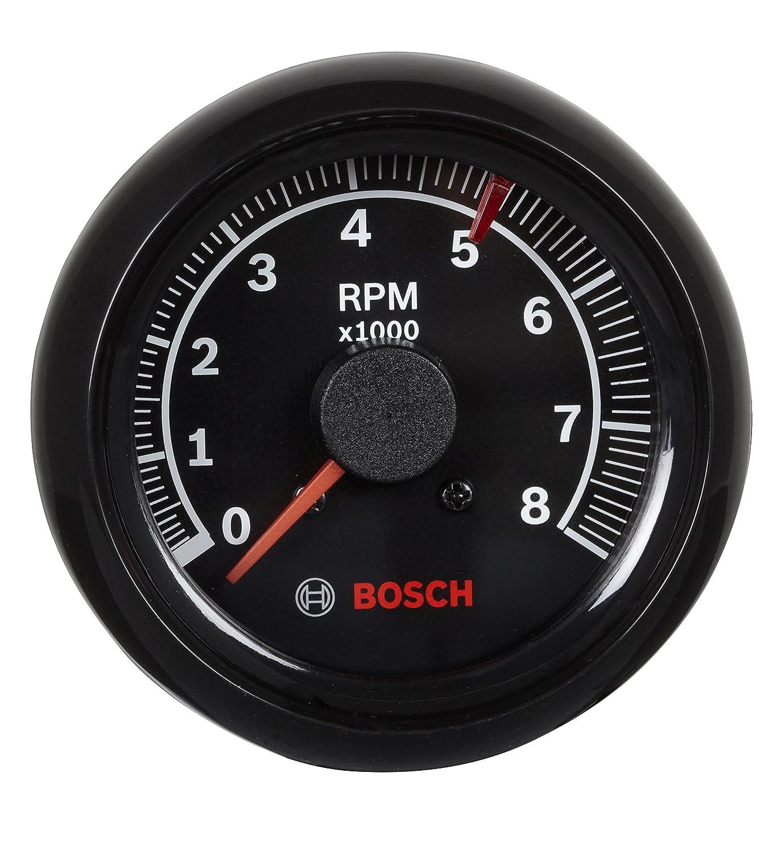 "Bosch SP0F000025 Sport II 2-5/8"" Tachometer (Black Dial Face, Black Bezel)"