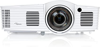 Optoma EH200ST Full 3D 1080p 3000 Lumen DLP Short Throw Projector with 20,000:1 Contrast Ratio and MHL Enabled HDMI Port