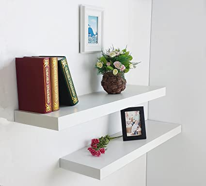 HAO Set of 2 Modern 10 Inch Depth Shelf For The Wall Wood Wall-Mounted & Amazon.com: HAO Set of 2 Modern 10 Inch Depth Shelf For The Wall ...