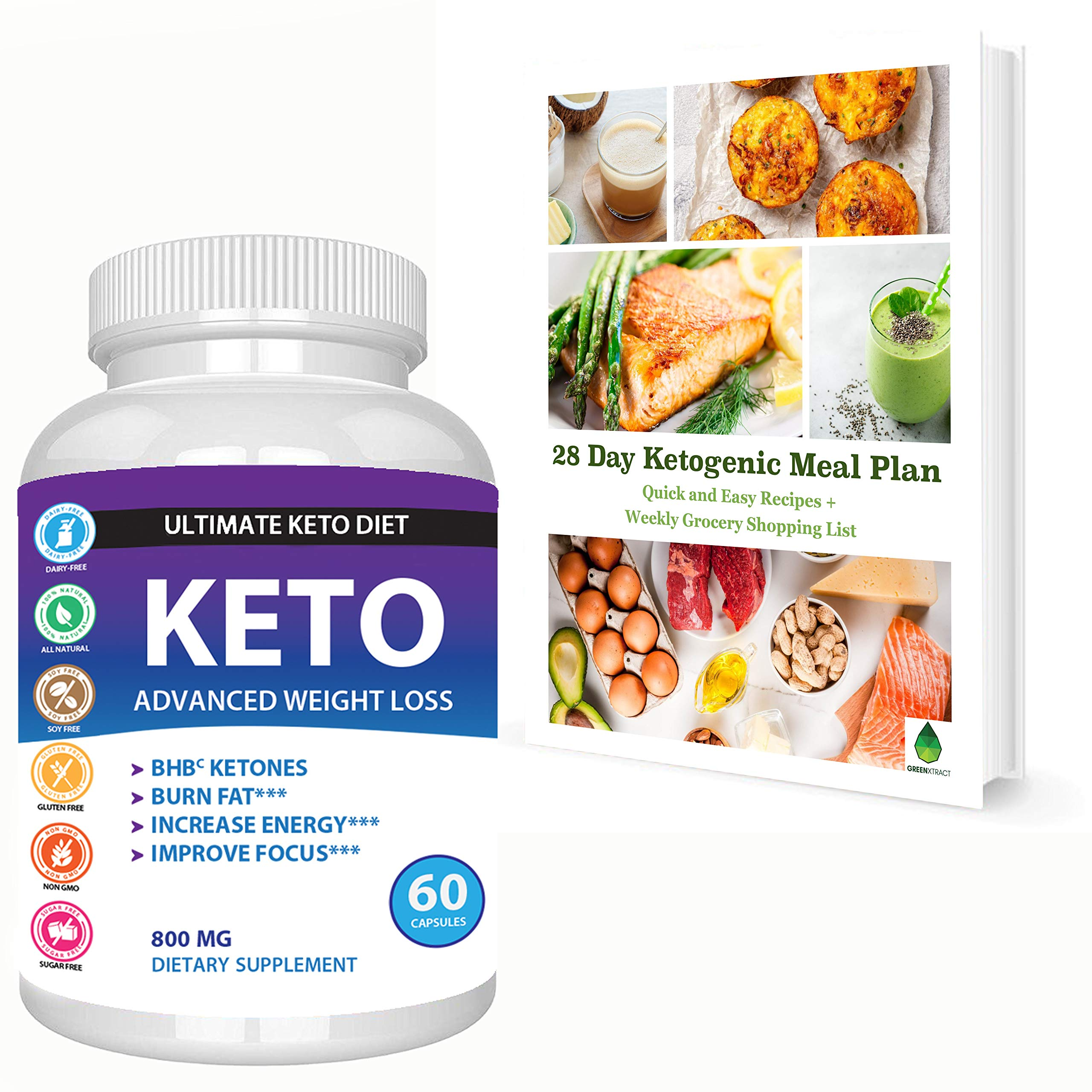 Best Keto Supplement – Advanced BHB Salts Formula - Perfect carb Blocker Fat Burner Metabolism and Energy Booster Pills – Weight Loss Supplements That Work Fast - Appetite suppressant – with Caffeine
