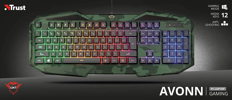 Tastiera computer Trust GXT 830 RW-C Avonn Gaming Keyboard ...