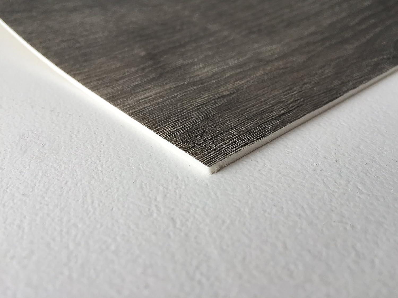 CV-Boden wird in ben/ötigter Gr/ö/ße als Meterware geliefert PVC Vinyl-Bodenbelag in rustikaler Holzoptik Schwarz//Anthrazit PVC-Belag verf/ügbar in der Breite 3 m /& in der L/änge 6,5 m