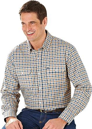 Camisa a Cuadros de Town and Country de Manga Larga de Pegasus, para Hombre: Amazon.es: Ropa y accesorios