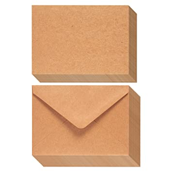 Amazon 50 piece brown kraft paper a7 envelopes and 50 sheet 50 piece brown kraft paper a7 envelopes and 50 sheet greeting card paper m4hsunfo