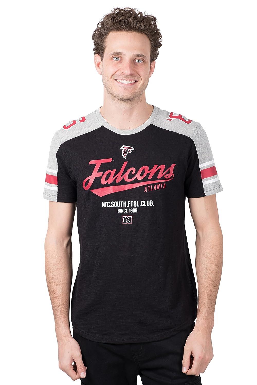 NFL Mens NFL Men's Vintage Logo Solid Varsity Stripe Jersey T-Shirt Icer Brands JTM2812F-PE-XL-P