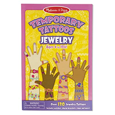 Melissa & Doug Temporary Tattoos: Jewelry - 130+ Kid-Friendly Tattoos (Great Gift for Girls and Boys - Best for 3, 4, 5, 6, 7 Year Olds and Up): Melissa & Doug: Toys & Games