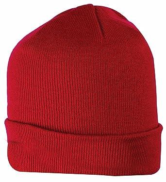 Highlander Unisex Deluxe Warm Winter Ski Watch Cap Knit Cold Beanie Hat  Mens Womens Ladies Red  Amazon.co.uk  Clothing 069f6da5b2