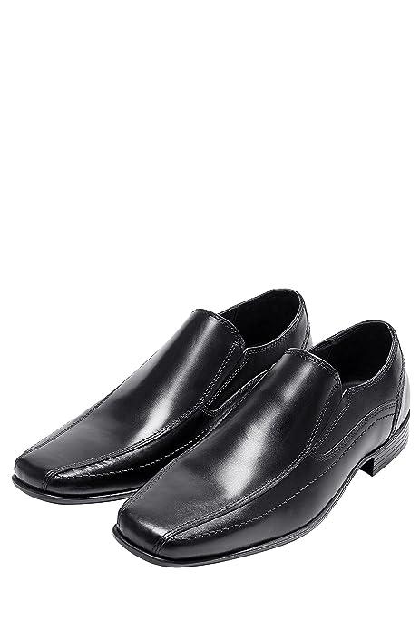 Zapatos de cuero negro con panel y cordones de Next q7QcqrQGpR