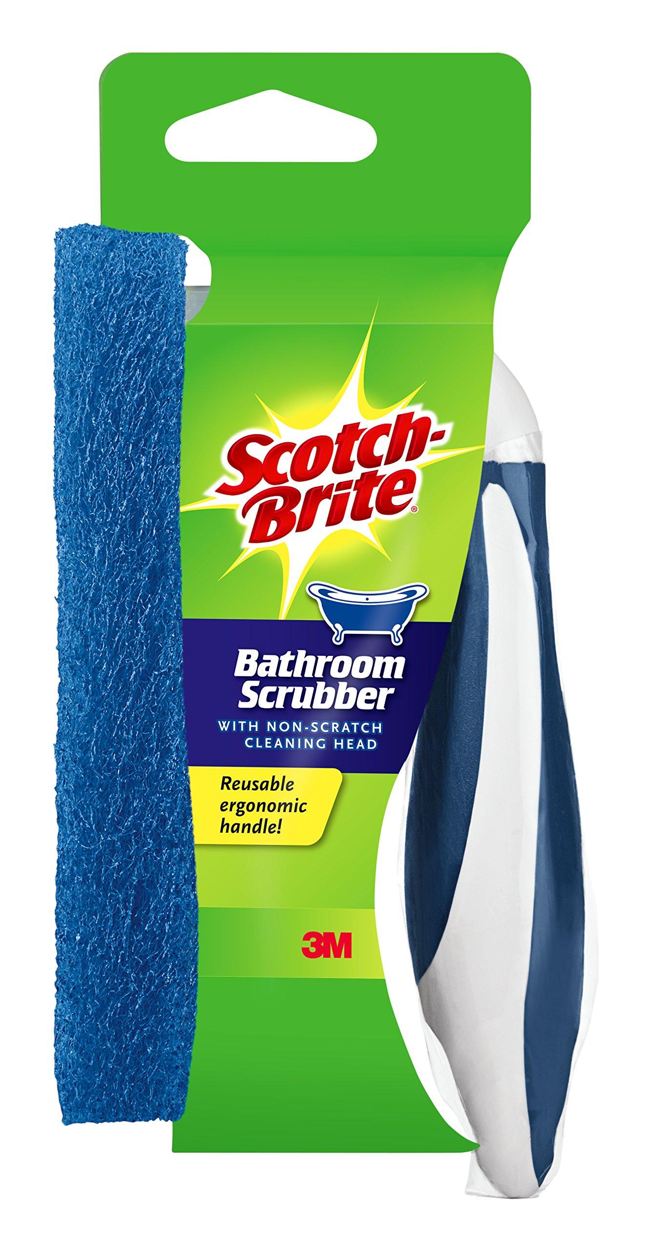 Scotch-Brite Non-Scratch Bathroom Scrubber with Reusable Handle