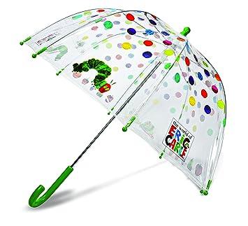 Eric Carle La oruga muy hambrienta para ninos paraguas transparente lunares