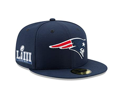 e839333bbb1dc New Era New England Patriots Navy Super Bowl LIII Bound 59Fifty Fitted Cap