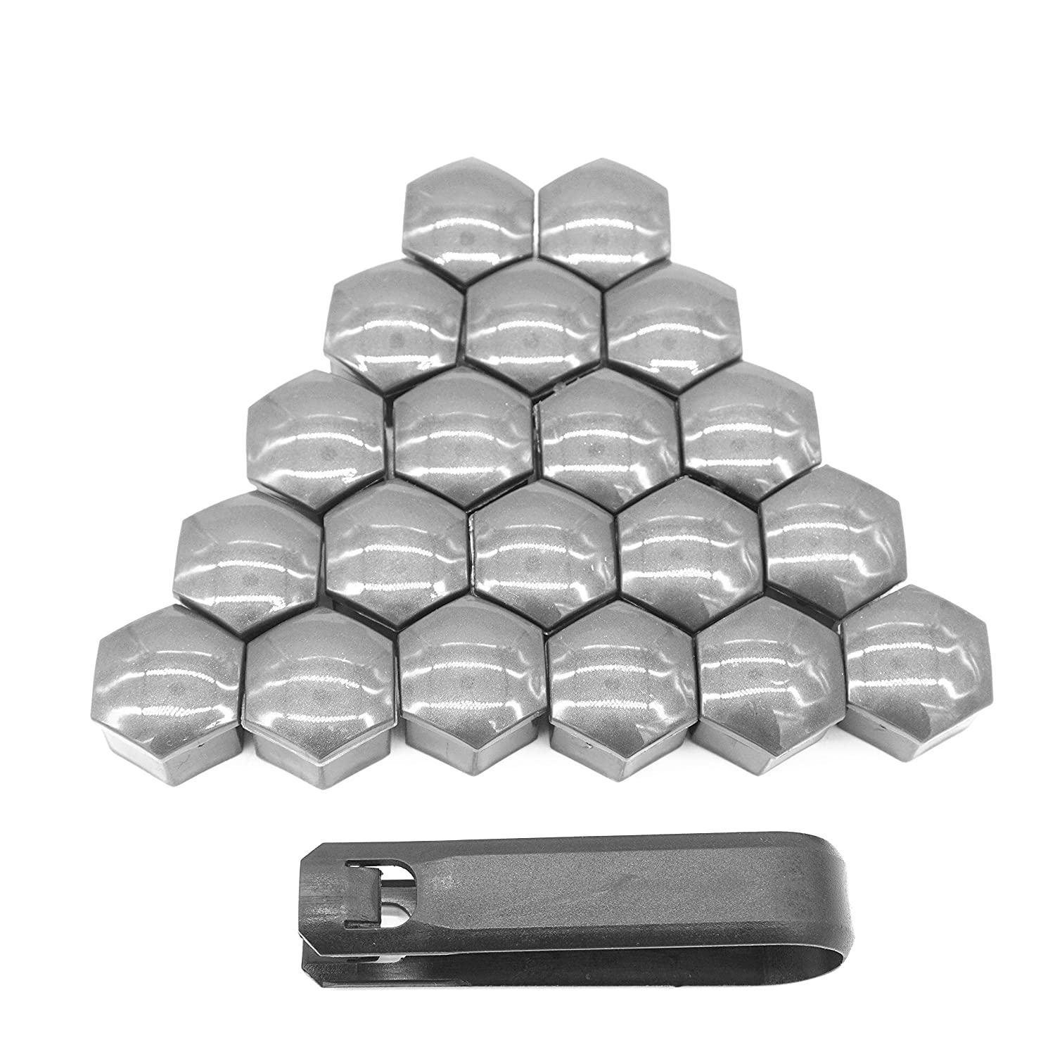 New Universal 17mm Wheel Lug//Hub Nuts Bolts Caps -Plastic Grey Wheel Lug Bolts Caps Included Removal Tool//Extraction Puller Tool Wheel Lug Nut Bolt Cover Caps Tire Bolts Head Covers 20 Pack