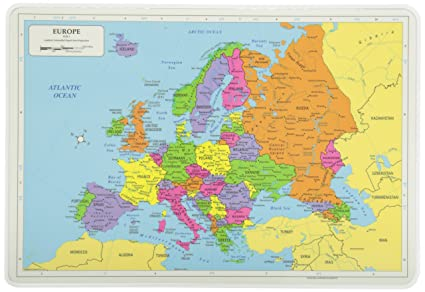 Amazon.com: Painless Learning Europe Map Placemat: Home & Kitchen