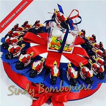 1251f4508d9 Bomboniere naissance baptême anniversaire moto Valentino Rossi Rouge Yamaha  expédition inclus Torta da 20 fette
