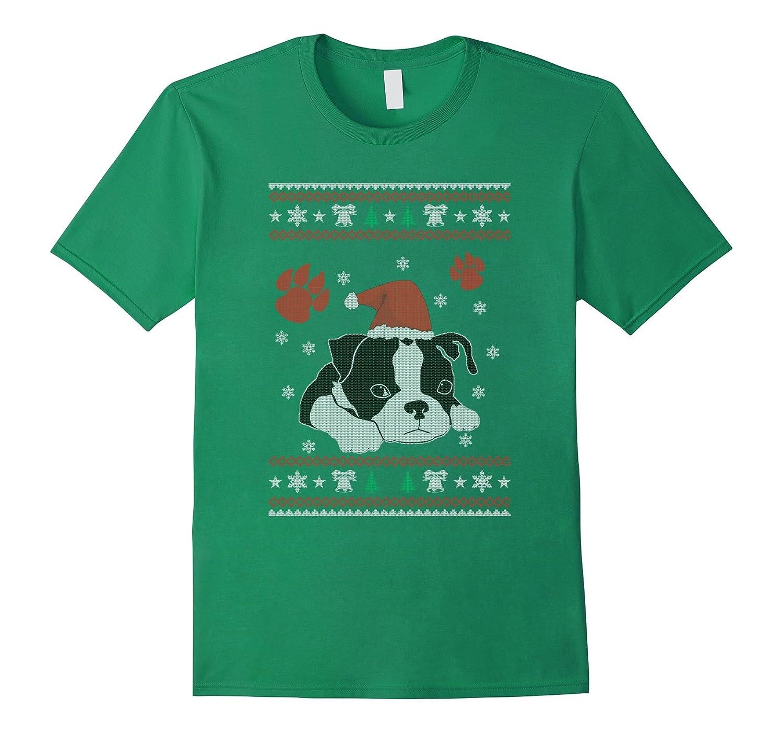 Boston Terrier Christmas sweater Dog T Shirts Goatstee