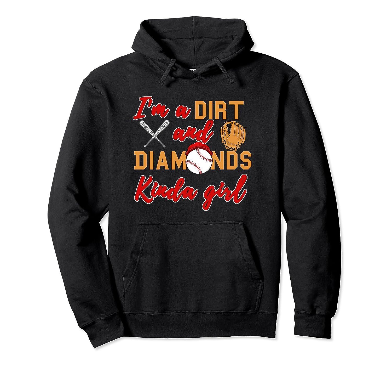 Softball Hoodie Dirt and Diamonds kinda Girl Hoodie-AZP